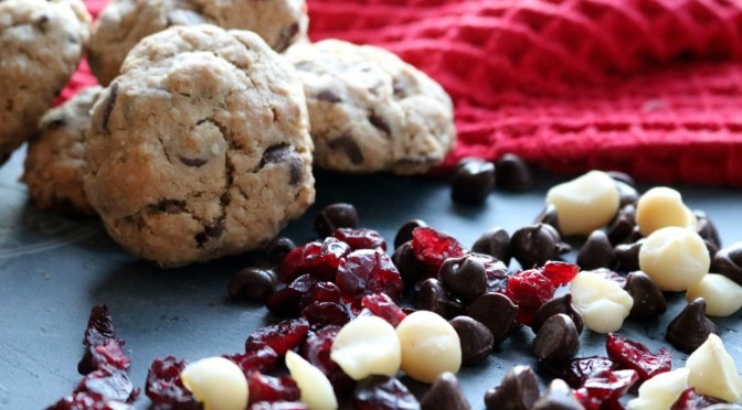 Oatmeal Chocolate Chip Cranberry Macadamia Nut Cookies